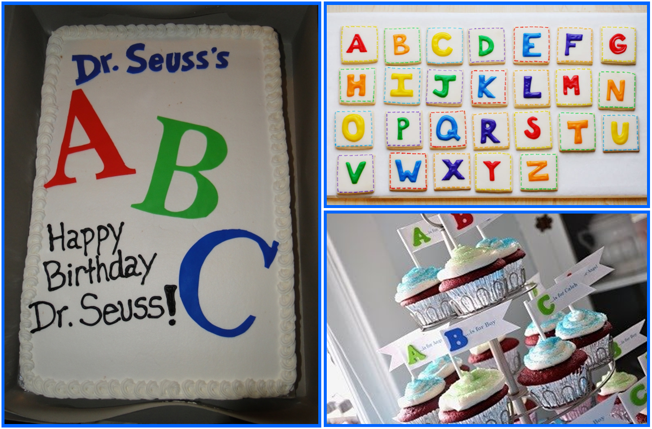 Dr seuss eventful possibilities for Abc cake decoration